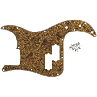 FidgetKute Gold Brown 4Ply 4- Precision Bass Pickguard Scratch Plate 13 Holes