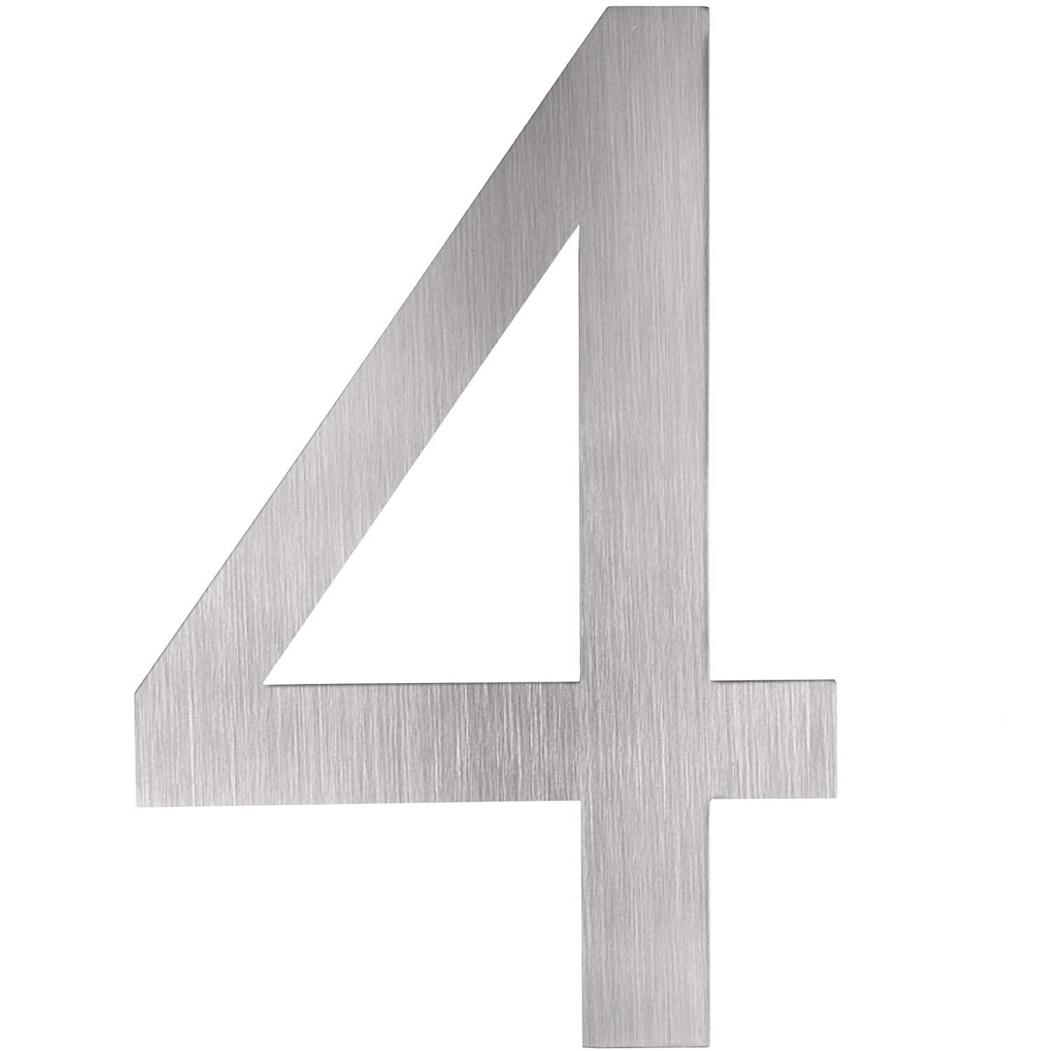 TecTake 20cm stainless steel street number room number - different models - (no. 0)
