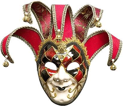OMAS Máscara de Hombres Jolly Jester Disfraz,de Disfraz Veneciano ...