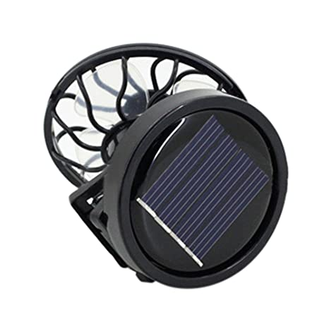 Amazon com: Portable Clip On Solar Cell Fan Sun Power Energy