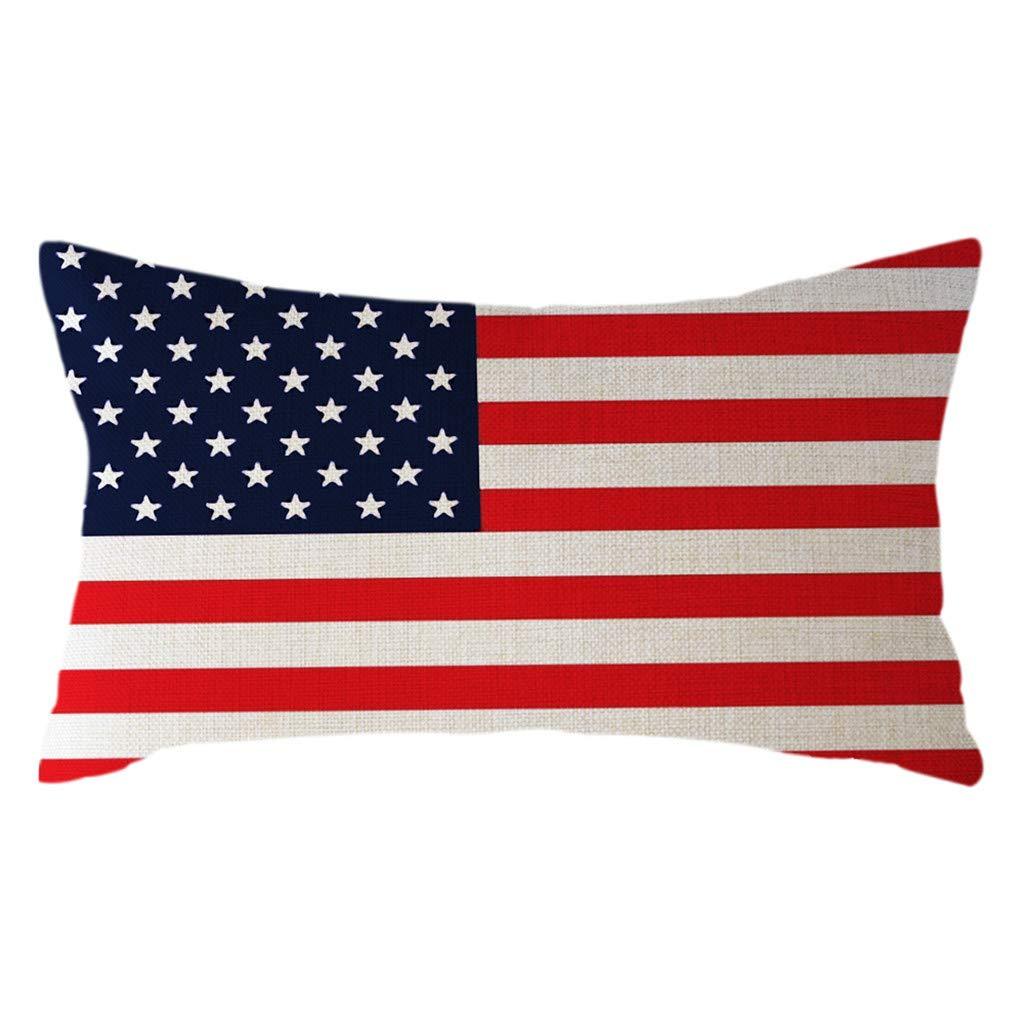 MURTIAL Minimalist National Flag Pillow Case Linen 30x50cm Cushion Cover Home Decor
