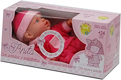 Amazon.es: Tachan- Muñeca Anita con Sonidos y palabritas, en Caja (CPA Toy Group Trading S.L. W21303a): Juguetes y juegos