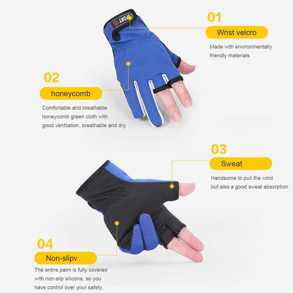 Auplew Angelhandschuhe Fingerlose Winterhandschuhe rutschfeste Atmungsaktive Outdoor Sport Reiten Handschuh Jagdhandschuhe