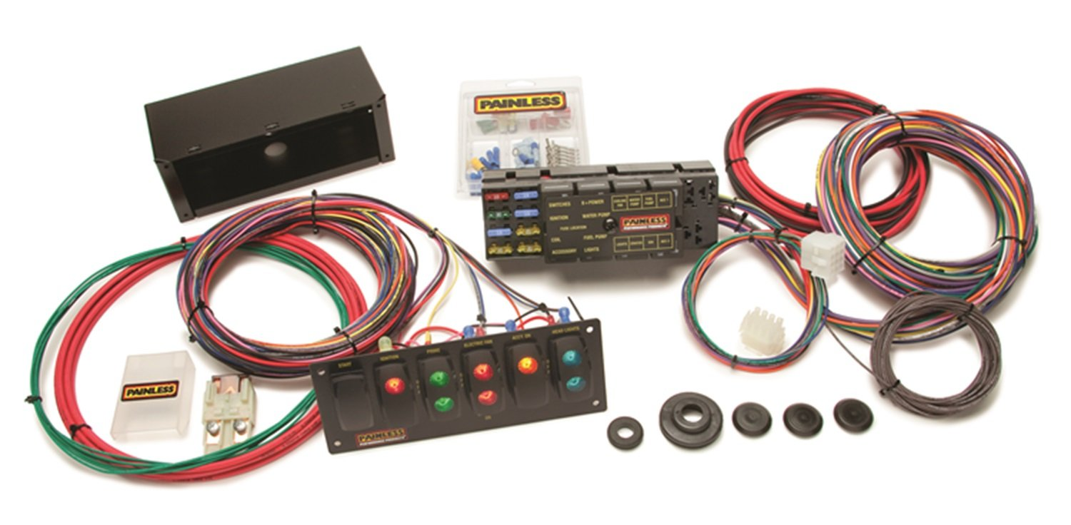 Painless Wiring 50005 10 Circuit Race Only Chassis Ls1 Harness Switch Panel Kit Incl 6 Contour Rocker