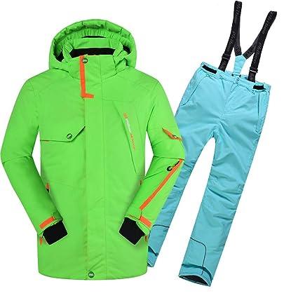 Gski Chico/Chica Chaqueta y Pantalones de Esquí Resistente ...