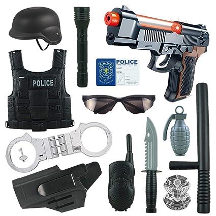 6257296888575 VenGo 13Pcs Niños Traje de Policía Juego de ...