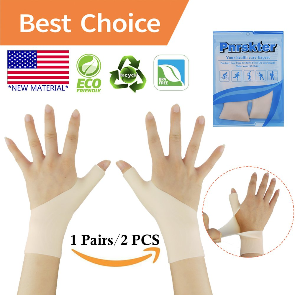 Gel Carpal Tunnel Wrist Brace, Wrist Splint Brace, Gel Wrist Support Braces (1 Pair) New MATERIALThumb Splint, Great for Tenosynovitis, Typing, Wrist & Thumb Pain, Rheumatism, Arthritis & More(Nude)