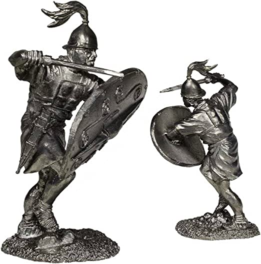 tin toy soldiers unpainted  54mm Roman legionary