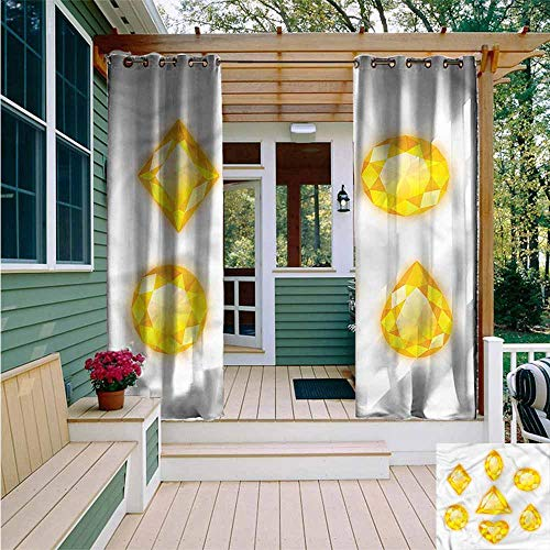Beihai1Sun Curtains for Bedroom,Diamonds Marquise Hearts and Pear,Waterproof Patio Door Panel,W108x72L