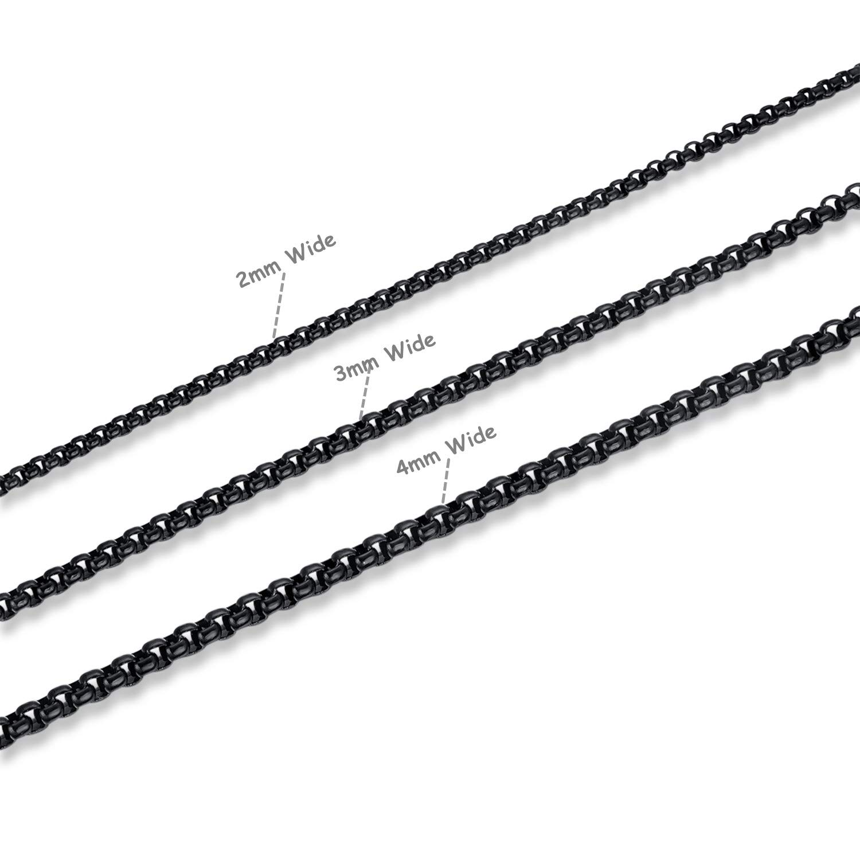 Amazon.com: FOSIR - Cadena de acero inoxidable para hombre y ...