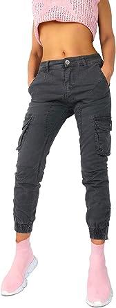 Pantalones De Mujer Jogg Jeans De Carga Joggstyle Safari Ejercito Militar Bundeswehr Estiramiento Gris Oscuro Tamano 38 Color Gris Amazon Es Ropa Y Accesorios
