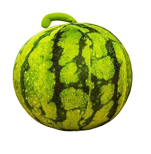 Pillow Cojín de sandía Verde de simulación/Cojines esféricos ...