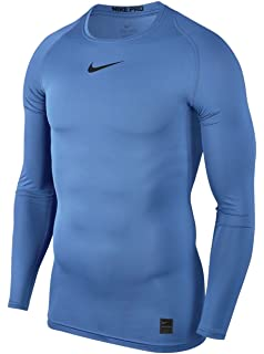 aa633a41 Nike Men's Pro Top Crew Neck Long Sleeve Compression Shirt, Men, Pro Top  Crew