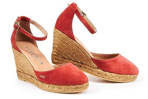 VISCATA Barcelona Viscata Palamos - Cuña DE 7,6 cm, Suela Suave, Tobillera, Puntera Cerrada, Tacón de Espadrillas, Fabricado EN España: Amazon.es: Zapatos y ...