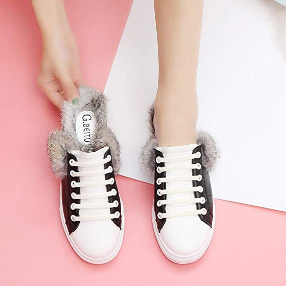 e9bd1f0797248 Amazon.com: YXB Women's Casual Shoes PU Lazy Shoes Lace Up Flats ...