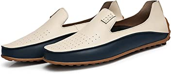 Summer Causal Shoes Men Loafers Genuine Leather Moccasins Men Driving Shoes Flats for Man Size 36