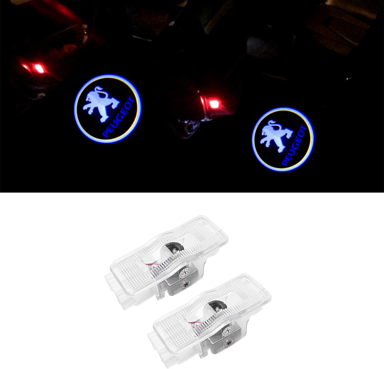 Ztmyzfsl 2 Stücke Auto Logo Projektion Projektor Tür Geister Shadow Light Willkommen Lampe Licht Auto