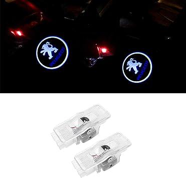 ZTMYZFSL 2 Unids Coche Logo Proyección Proyector LED Puerta ...
