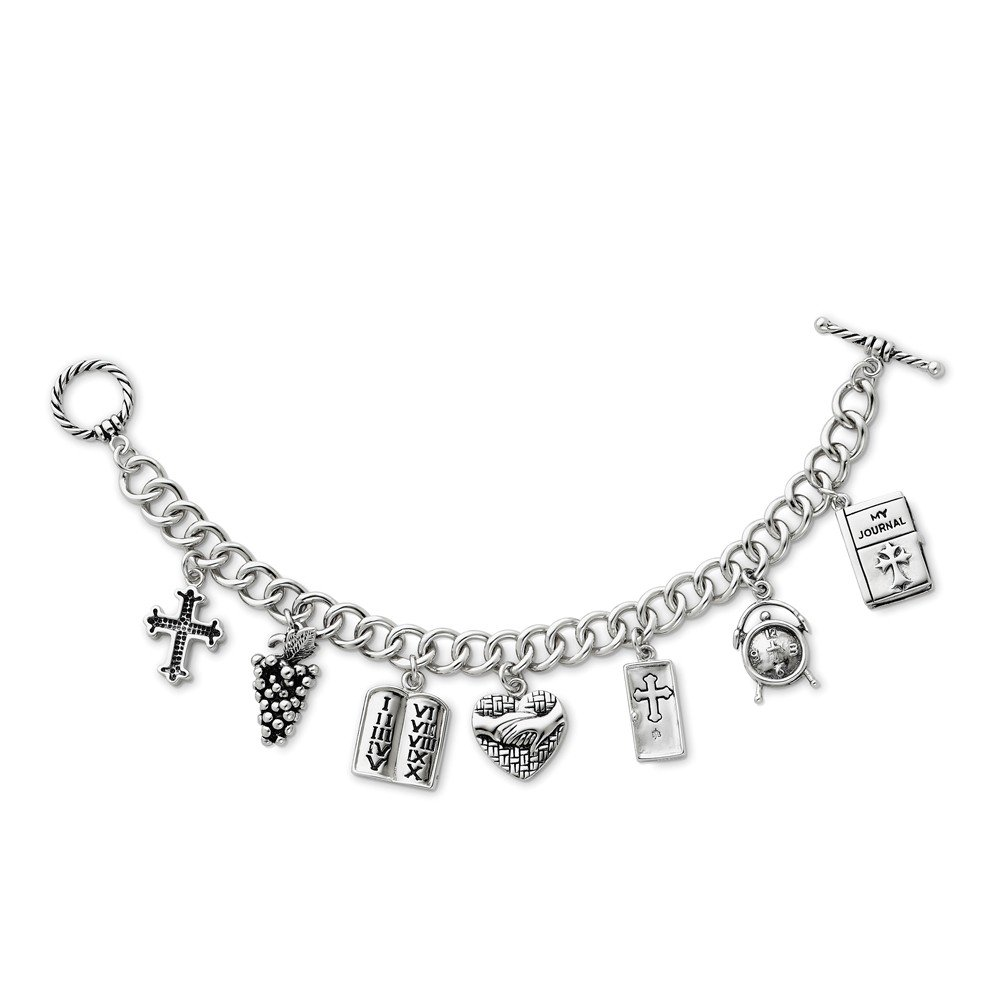 925 Sterling Silver Answered Prayer 7.5 Inch Locket Charm Bracelet Religious W/charm Fine Jewelry Gifts For Women For Her