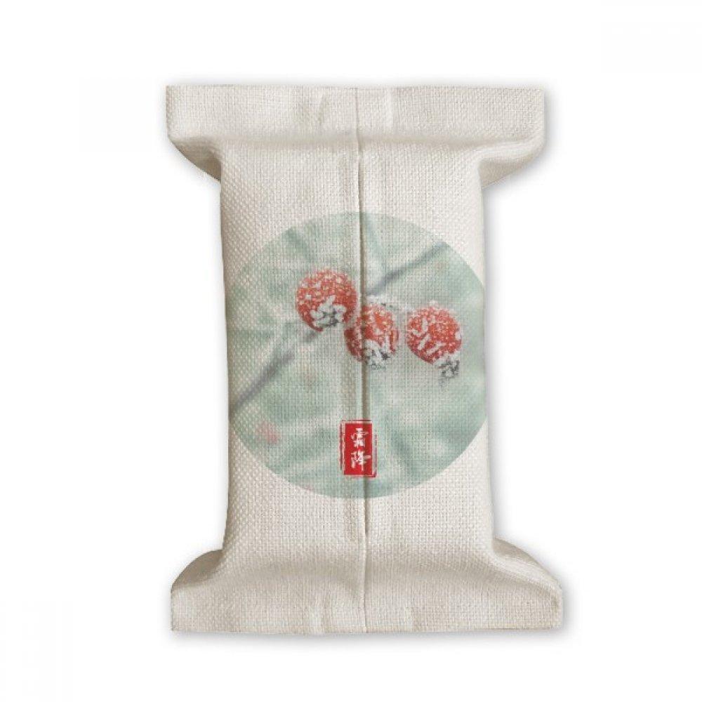 DIYthinker First Frost Twenty Four Solar Term Pattern Tissue Paper Cover Cotton Linen Holder Storage Container Gift