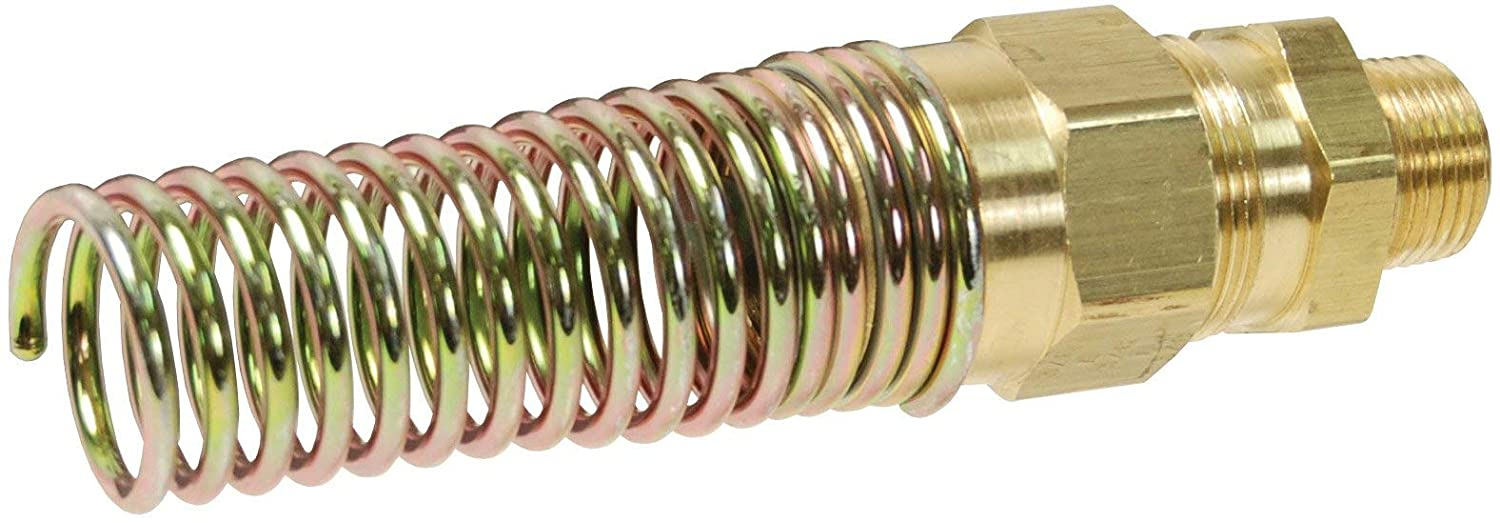 Dixon 68RBSG-0606 Brass Male Connector w//Spring Guard 3//8 Hose x 3//8 Pipe 1-1//16 Hex