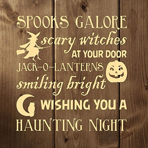 Enid545Anne Halloween Decor - Halloween Poem Vinyl Wall Decal - Witches, O-Lanterns, Trick or Treat - Fun Halloween Decorations for the Home, Office, or -