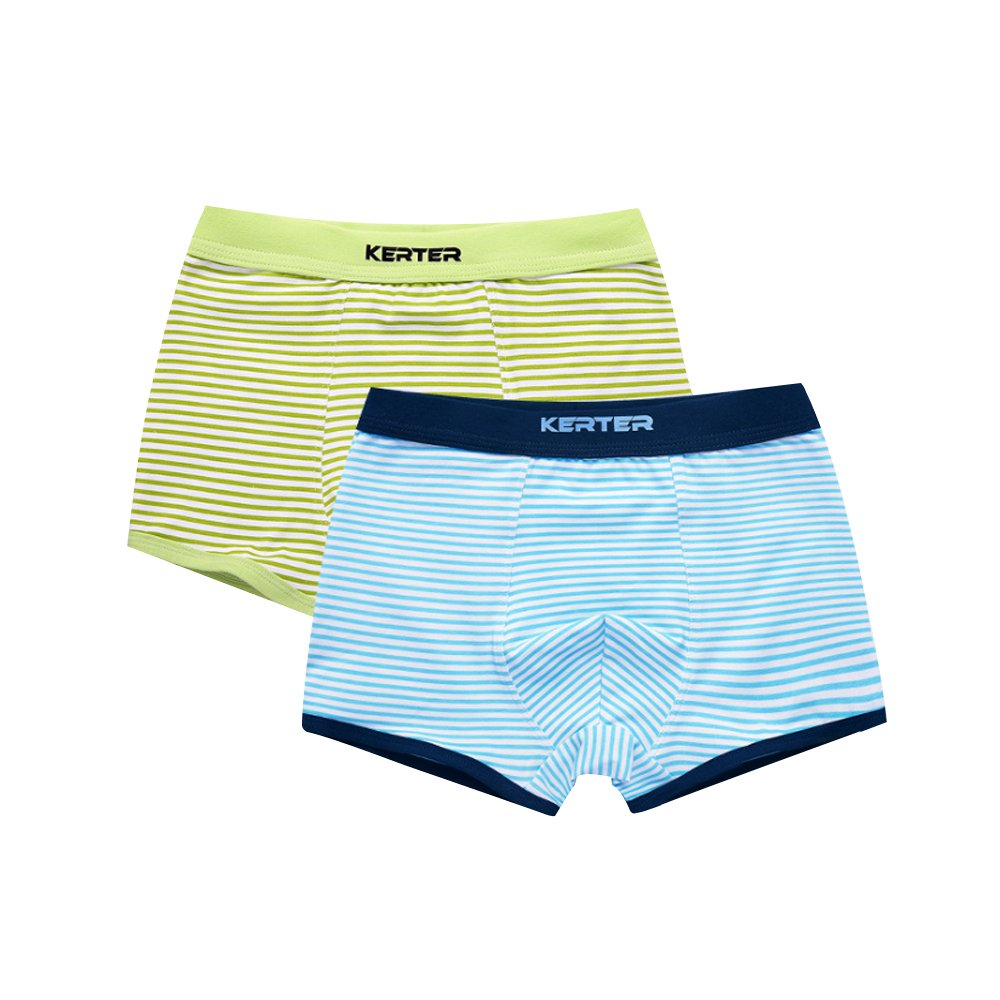 Mesinsefra Boy's Boxer Briefs (Pack of 3) Blue and Green 130cm by Mesinsefra