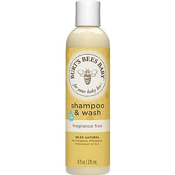 Amazon.com: Burt\'s Bees Baby Shampoo & Wash, Fragrance Free & Tear ...