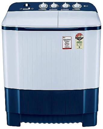 LG 6.5 Kg 4 Star Semi Automatic Top Loading Washing Machine  P6510NBAY, Dark Blue, Rat Away Technology  Washing Machines   Dryers
