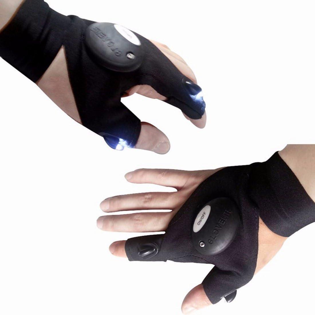 Mitaines-Gants-LED-lampe de Poche-Gants-LED-Light-pêche-Gloves-gants-mitaine 1