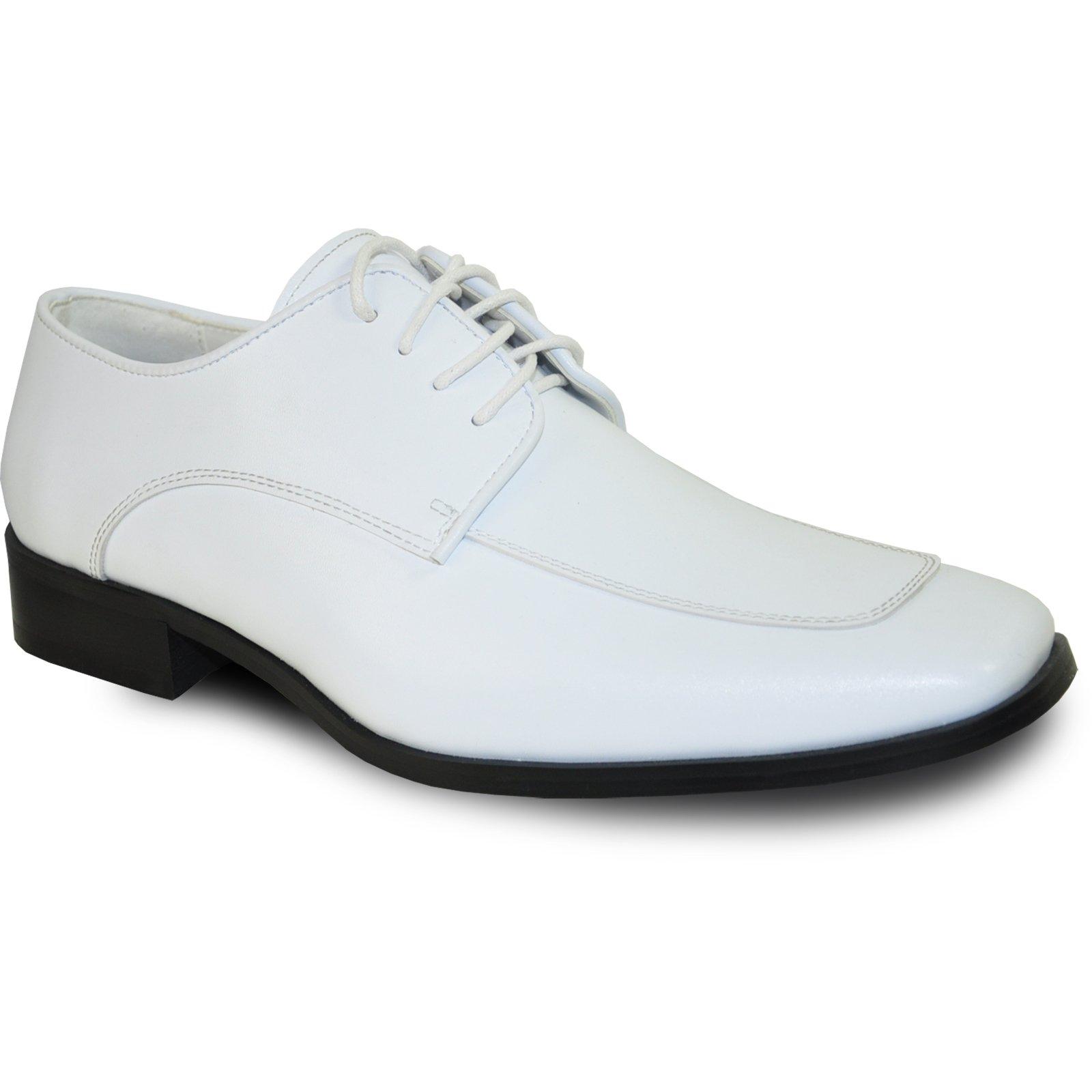 VANGELO Men Tuxedo Shoe Tux-3 Square Toe for Wedding, School Uniform & Formal Event-Wide Width Available