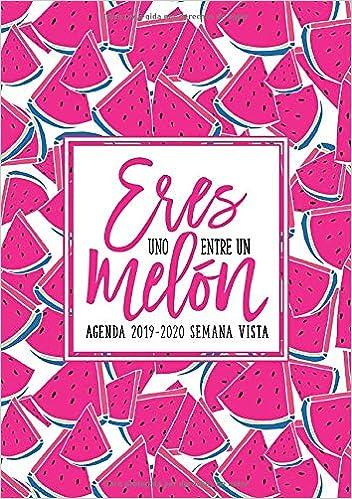 Amazon.com: Eres uno entre un melón: Agenda 2019-2020 semana ...