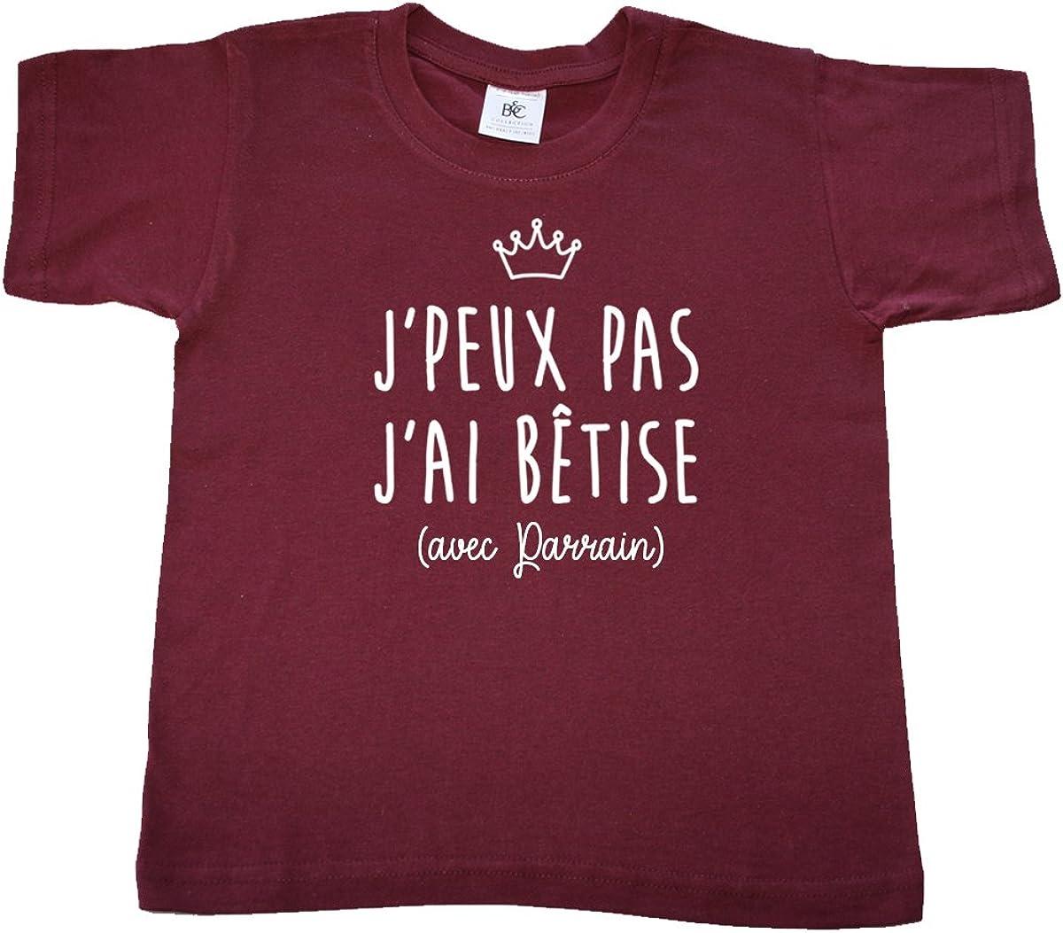 Dstny T-Shirt Enfants Unisexe Jpeux Pas JAi b/êtise avec Parrain