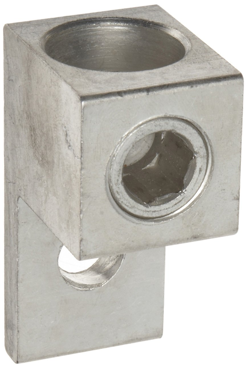 Morris Products 90728 Mechanical Lug, One Conductor, One Hole Mount, Aluminum, 750 AWG, 750mcm - 300mcm Wire Range