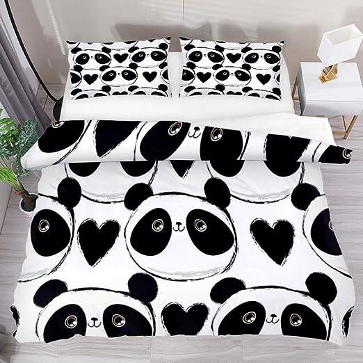 Cute Panda Print Bedding Set Luxury Bed Sheet Duvet Cover Pillowcase 5 SIZES