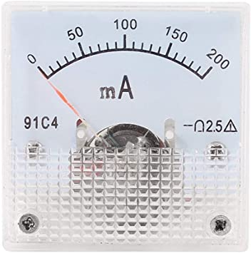 YXQ 0-1A Analog Ammeter Current Panel 91C4 Amp Gauge Meter 2.5 Accuracy for Auto Circuit Measurement Tester DC 1A