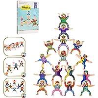 Wooden Stacking Blocks Balancing Game, Wooden Stacking Games Hercules Acrobatic Troupe Interlock Toys, Balancing Blocks Games for Kids Adults Locks Games