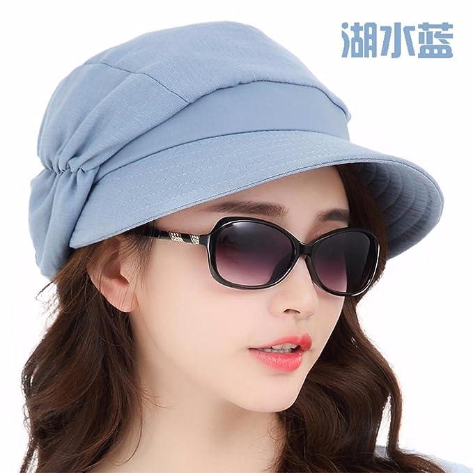 389a2e0bd9402 YANGFEIFEI-MZ Visor de Verano Damas Casual Sombrero para el Sol Sombrero  para el Sol de Primavera y Verano escapadas de Plegado Exterior Elegante   ...