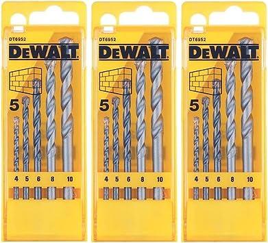 DeWalt DT6952 ladrillo y mampostería brocas 5 piezas pack de 3 ...
