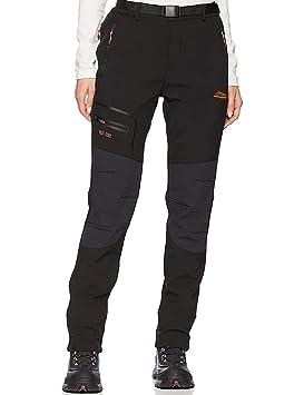 entrega gratis nuevo diseño precio de fábrica DENGBOSN Pantalones de Montaña Mujer Impermeables Invierno Calentar  Pantalones Trekking Escalada Senderismo Softshell