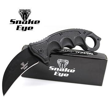 Amazon.com: Snake Eye - Cuchillo táctico de bolsillo ...