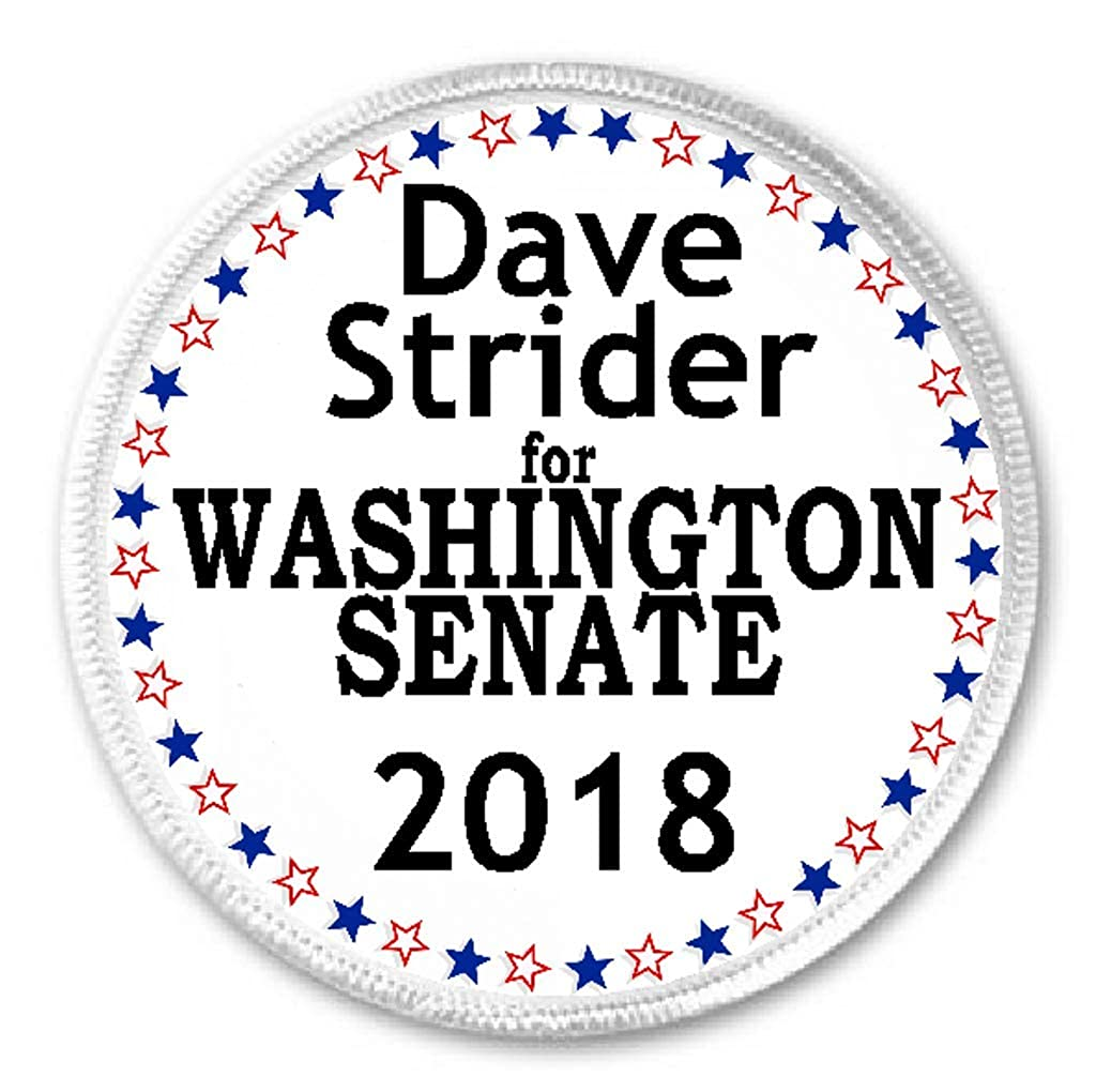 Dave Strider for Washington Senate 2018-3 Sew//Iron On Patch Election