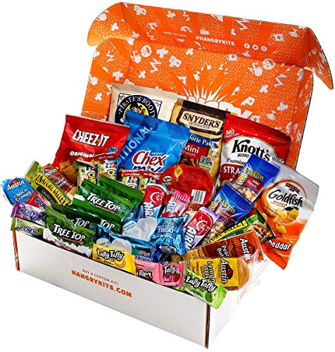 Food Kit - HANGRY KIT - Essential Kit - Care Package Snack Gift Assortment