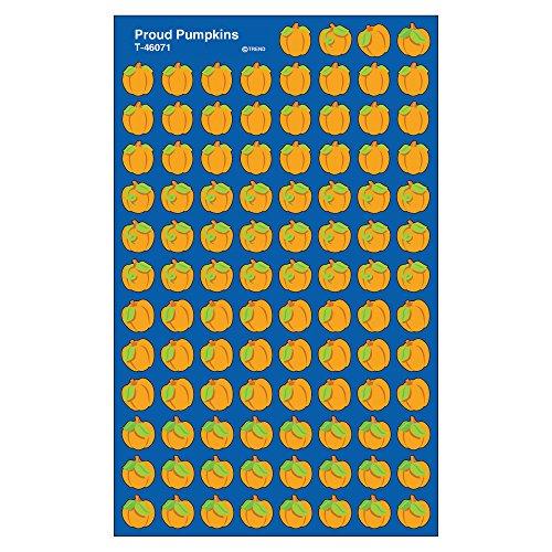 Trend Enterprises Proud Pumpkins Super Shapes Stickers (800 Piece), Multi -