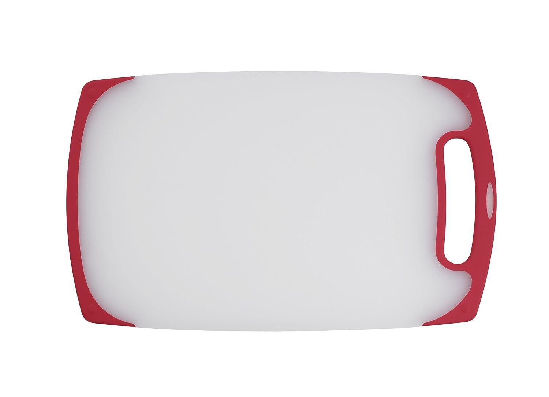 "Cuisinart CPB-13SR 13"" Semi-Transparent Board with Red Trim, White"