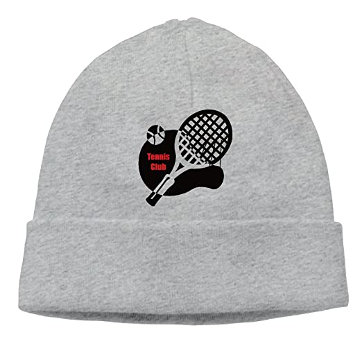 SEVENJIA Tennis Club Soft Knit Beanie Hat Warm Thick Winter Hat For Men  Tennis Club Winter Warm Cap at Amazon Men s Clothing store  9eee1c2f5db