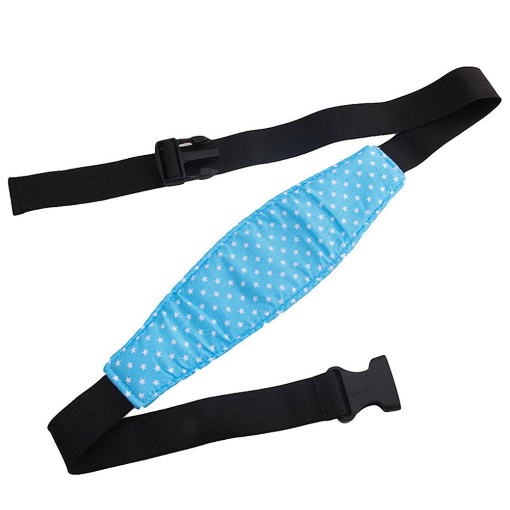 BESTONZON Infant Baby Head Support Band Carseat Straps Covers Slumber Sling Toddler Car Seat Adjustable Sleep Positioner