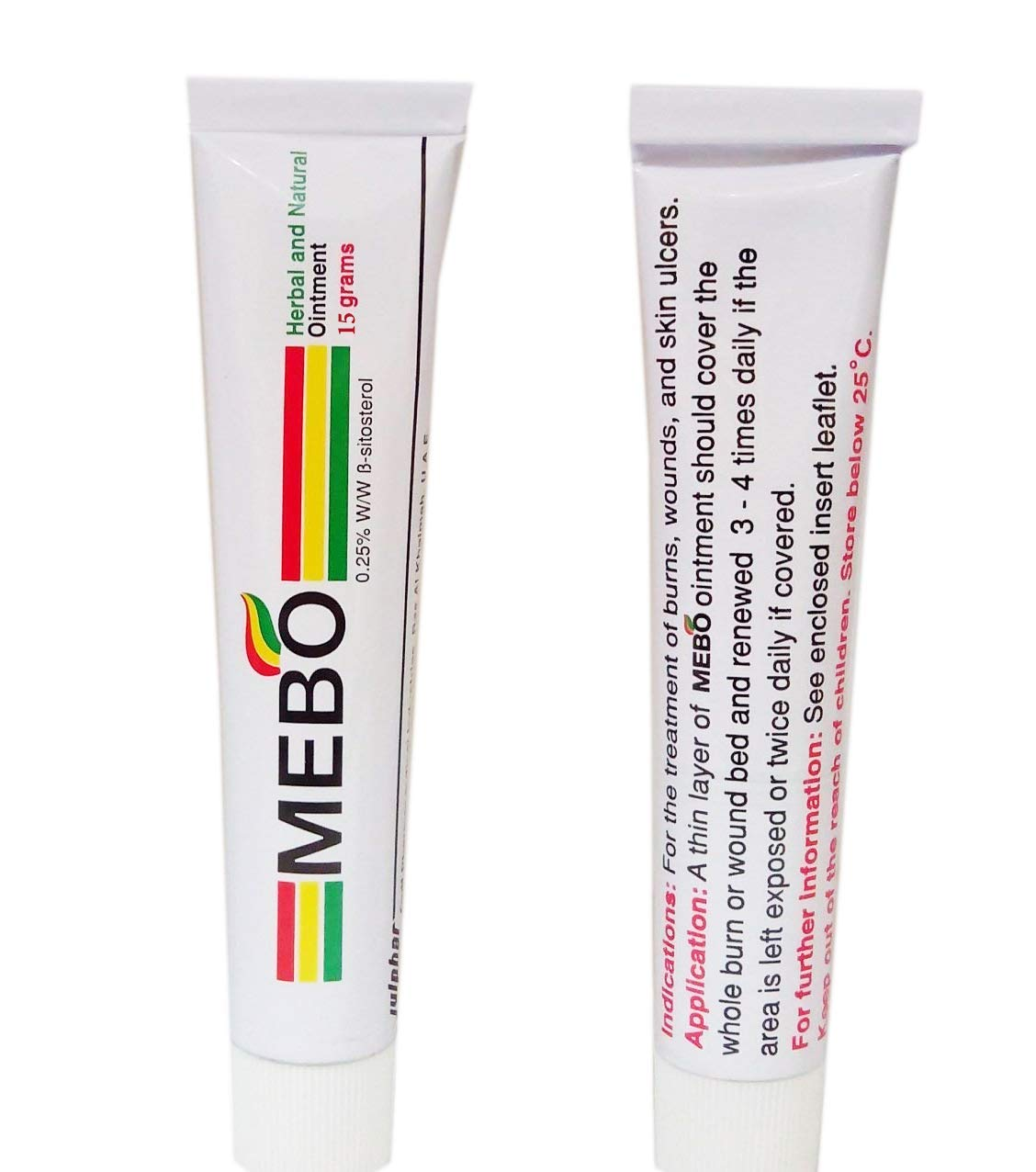 Pack of 5 MEBO Burn Fast Pain Relief Healing Cream Leaves No Marks 15 Grams Each One