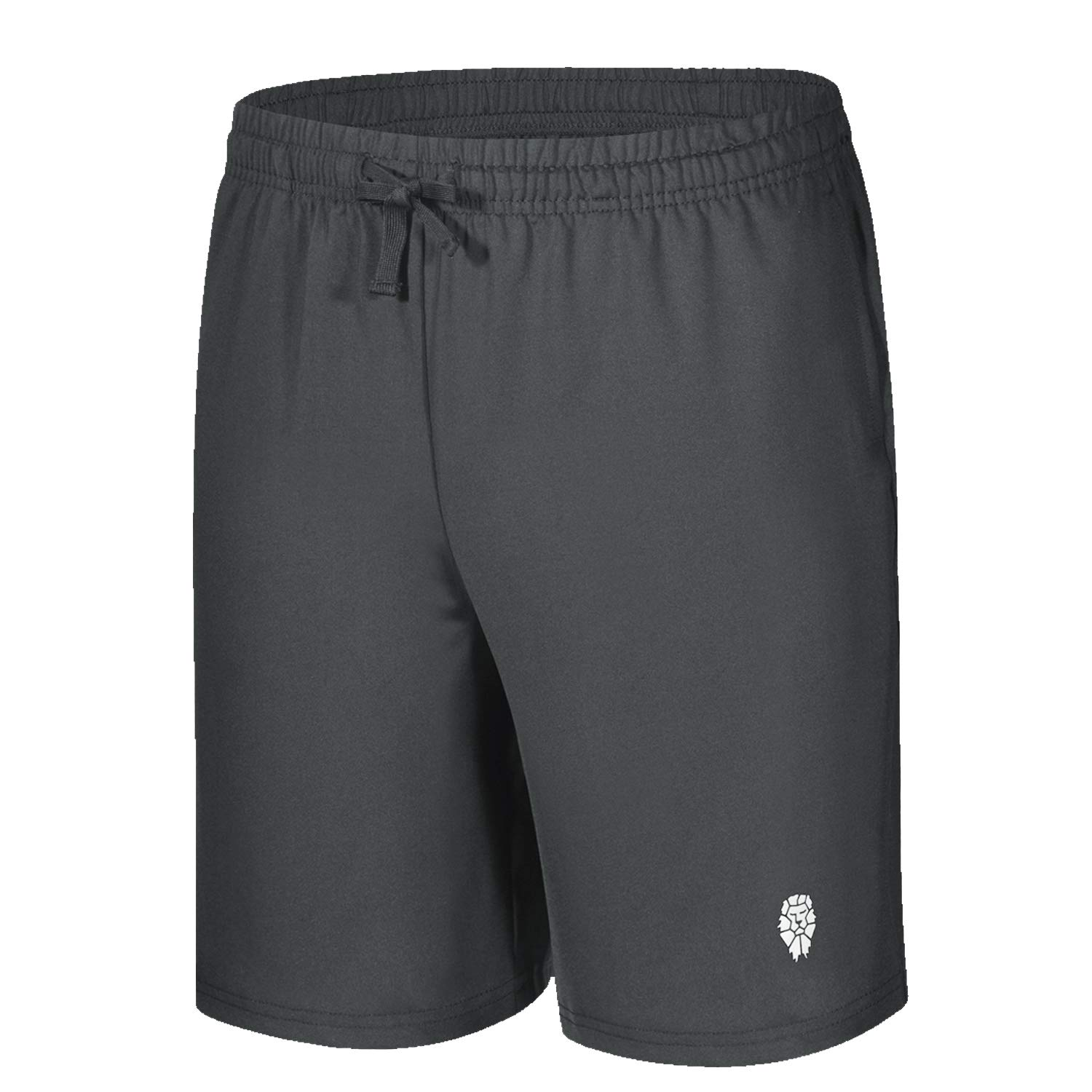 PIQIDIG Youth Boys' Running Athletic Shorts Quick Dry Performance Sports Shorts with Pockets Grey S by PIQIDIG