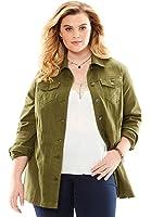 Roamans Women's Plus Size Long Jean Jacket